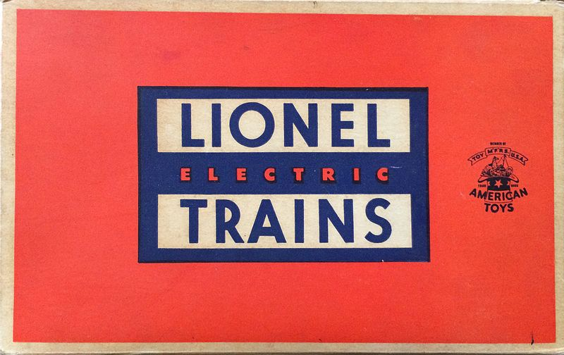 Lionel Train box design in the 1950s