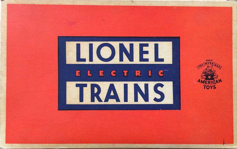 Lionel Train box design in the 1950s