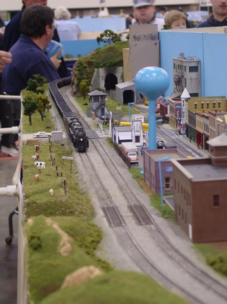 A model railroad in a convention