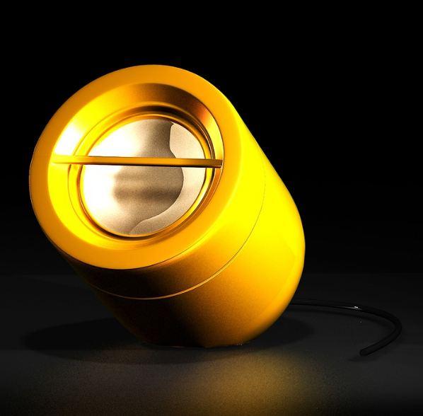 yellow portable speaker